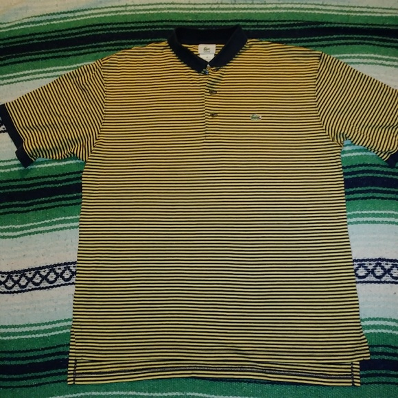 be8deae27a Lacoste Yellow and Black Bumblebee Polo!